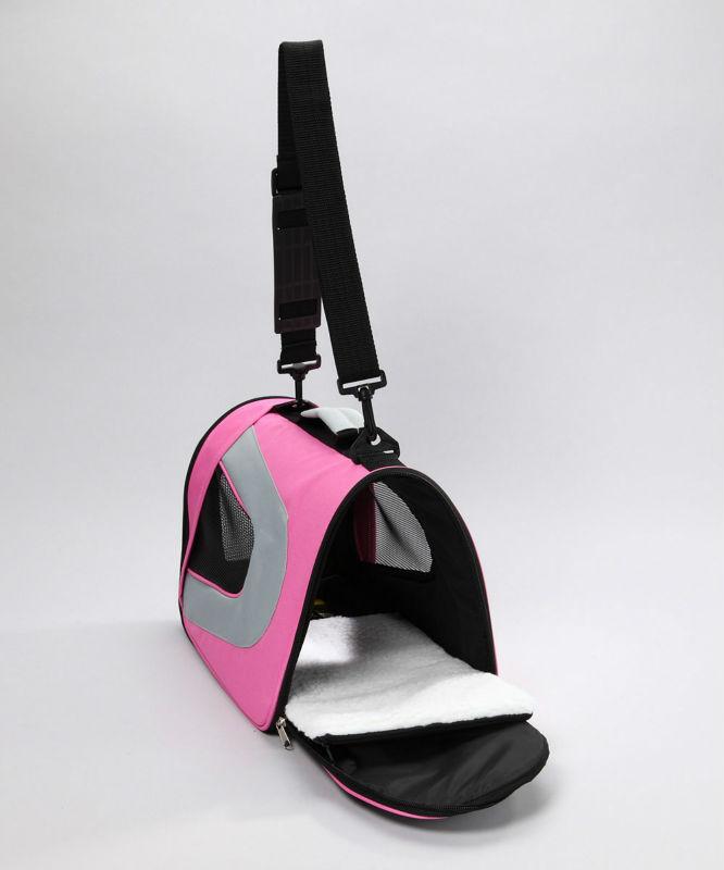 Airline approved lightweight mesh pet dog carrier bag pink