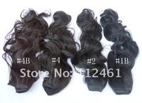 10 pcs/lot free shipping 30 colors available curly clip in hair extension 120g/pc 50cm long 23cm width women's hair extension