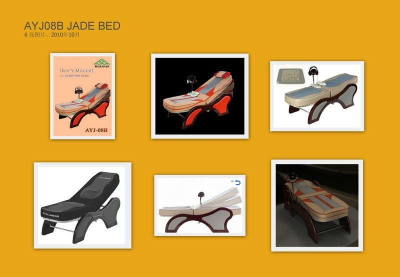 jade stone thermal massage bed,physical therapy jade massage bed with MUSIC