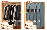 Бокс для хранения foldable Bamboo Charcoal fibre storage bag box case organizer for suit clothes overcoat jack wind coat size L