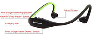Наушники Sports Headphone Bluetooth Headset Earphone for Samsung Galaxy S2 S3 S4 i9300 i9500 Note 2 3 N7100 N9000 for iphone 5 5sHOT