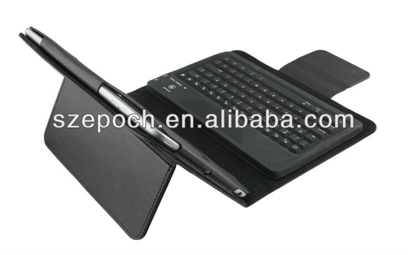 2013 simple fashion book leather case with bluetooth keyboard for ipad mini case