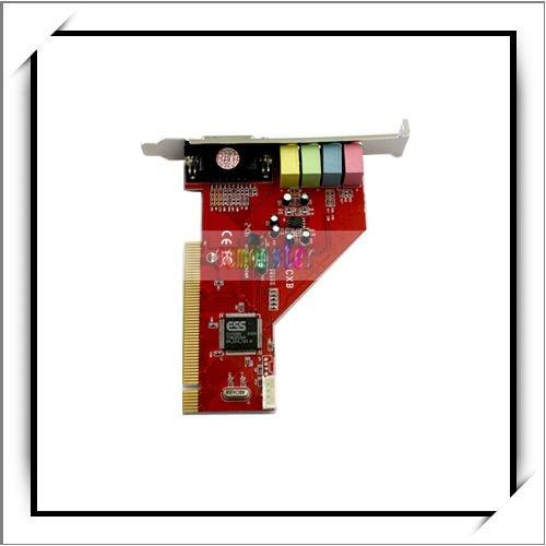 4 Channel 3D PC PCI Audio Sound Card w/Game MIDI Port