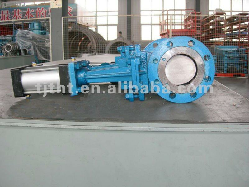 flanged knife gate valve pneumatic actuator