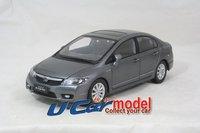 1pcs/lot 1:18 автомобиль Китай honda civic 2009 die-cast модель в серый цвет
