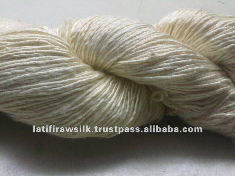 Spun silk