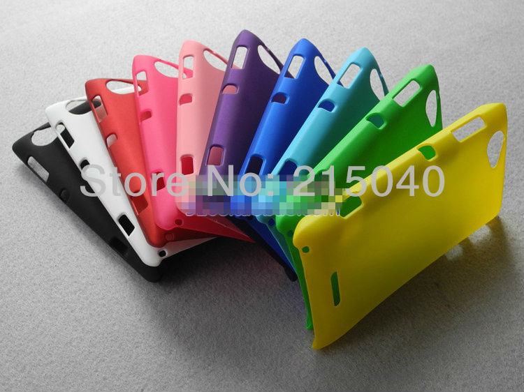High Quality Cheapest Colorized Oil-coated Rubber Matte Hard Case Cover for Sony Xperia L S36h C210x, SON-011 (7)