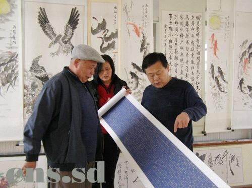 Бумага для рисования Handmade Fine Framed Pink Xuan Paper Hand Scroll