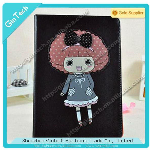Hot selling and cute cartoon leather case for ipad mini for ipad mini cartoon cover