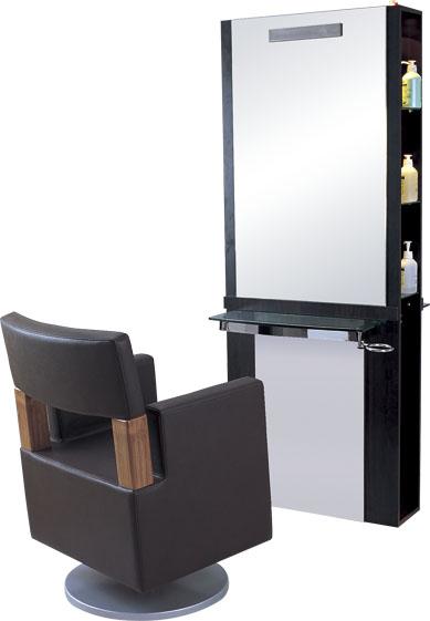 Elegant Hair Salon Mirror Station B15 View