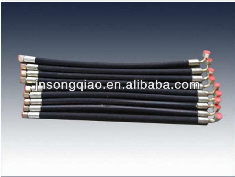 Cheap High Temperature Smooth Surface Flexible Aging Resistant Rubber Hydraulic Hose/Pipe