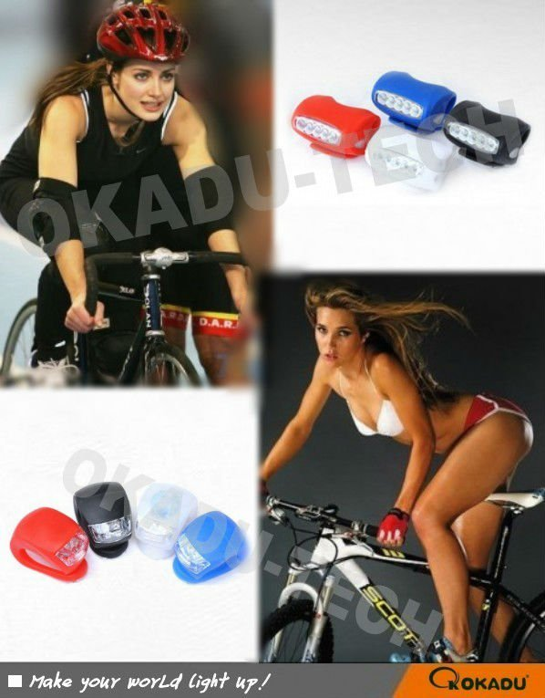 2013 Mini Wholesale Silicone Bicycle Led Light(REACH, CE, ROHS)