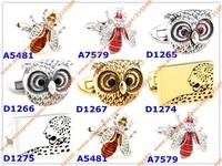 Запонки и зажимы для галстука Men's Jewelry Animals Cufflinks High Quality Design Funny Cufflink French Cuff links Mens Accessories