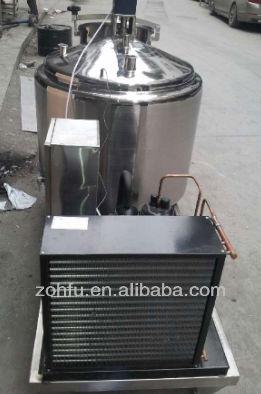 Aço inoxidável 250L mini resfriador de leite