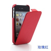 High Quality Leather Flip Skin Case Cover For iphone 4 4G 4S 3 3G Free Shipping HKPAM CPAM