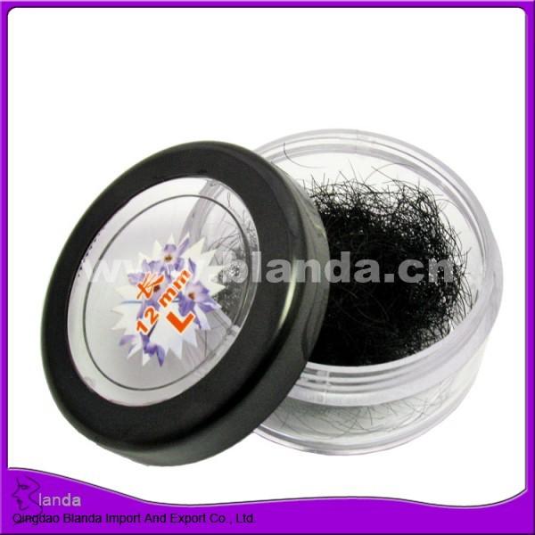 Silk fiber loose eyelash 0.2mm B curl single bulk eyelashes