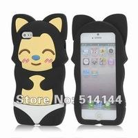 Чехол для для мобильных телефонов Cute 3D Ali Little Fox Silicone Case Cover for iPhone 5 - Black