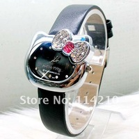 Наручные часы Five Colors Cute Design Bowknot Hello kitty fashion Wrist Watch Factory Price Great Gift