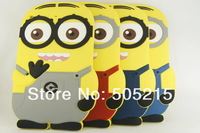 Потребительские товары For Apple ipad mini Despicable Me soft rubber silicone 3D minion cases covers for retina mini