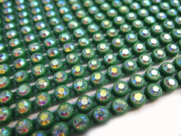 A16 green color base rhinestone cup chain (4)