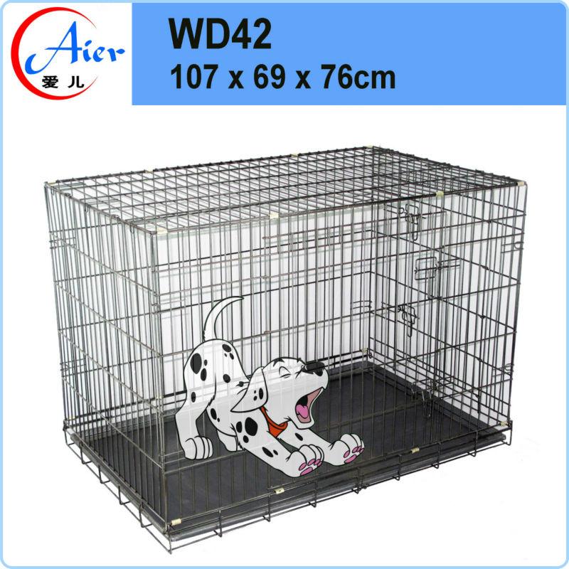 weld mesh dog crate large metal dog kennel