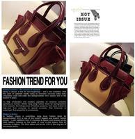 Сумка ladies fashion designer handbags for women PU leather smile tote bag Mulit-color leisure winter shoulder bag