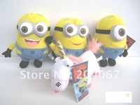 Despicable Me toys,17cm plush dolls, 2D eyes new style toys,free shipping me 8pcs/lot