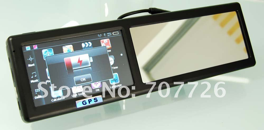 New arrival 4.3 inch car rear view mirror monitor with gps navigation Bluetooth+AVIN free shipping