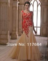 Вечернее платье Glamorous V Neck Zipper Back AppliqueTulle Mermaid Evening Dresses Evening Gown Formal Dresses NP5414