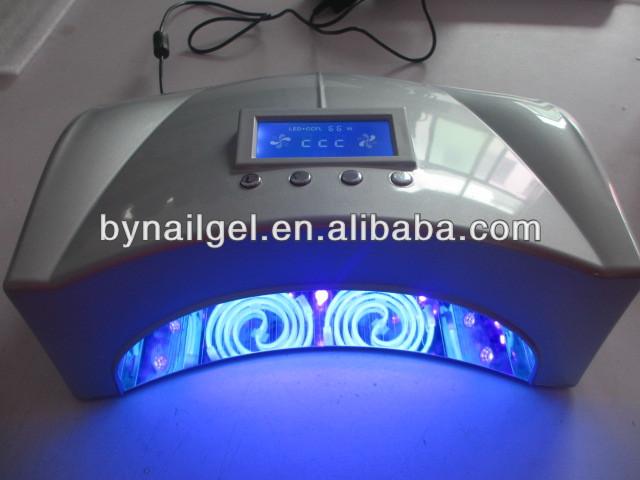 2015 haute puissance 66 W CCFL + LED UV de durcissement des ongles 2 mains LED UV Nail Gel Nail sèche avec ventilateur lampe pour manucure