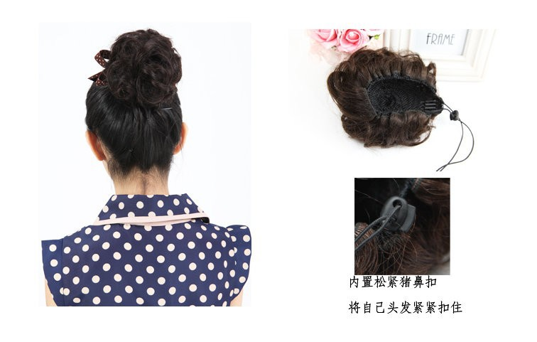 Human Hair Chignon Hair Pieces 13