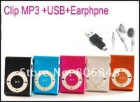 Cheap Popular Clip Mp3 player with Card Slot Mini Mp3 Music Player with USB Cable and Earphone 10pcs/lot Free Shiping