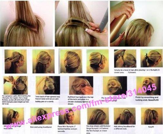 Заколка для объема волос прически