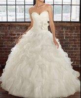 2012 new style white / ivory wedding dress custom made free shipping
