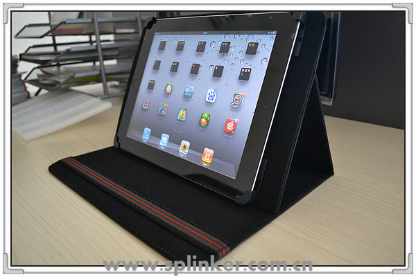 Stand PU Leather Rotate Case for iPad 4 U2901-113