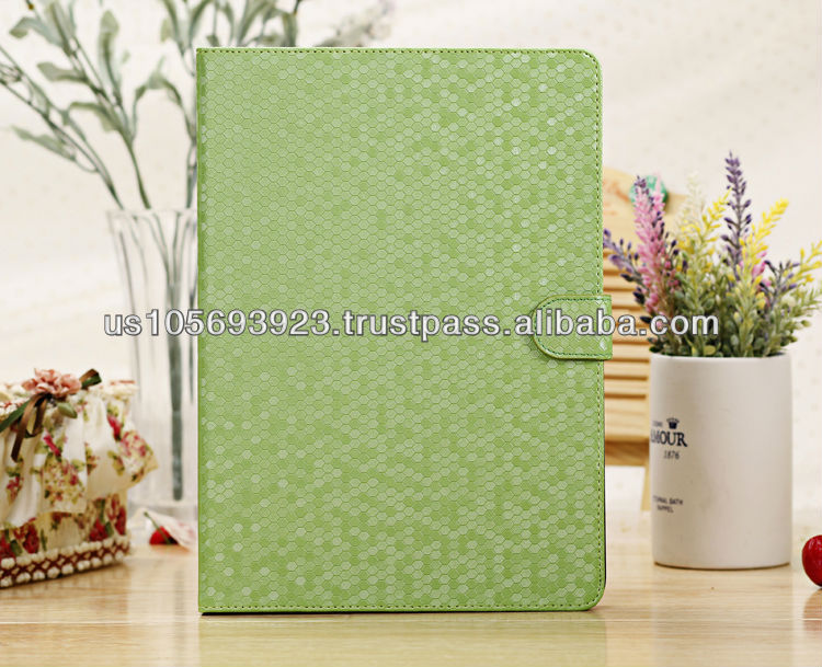 Diamond pattern Magnetic Smart Stand Leather Case For Ipad Air( ipad 5) 9Color