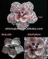 Блестящий хрусталь брошь цветок для свадебного украшения, брошь цветок форму Стразы для одежды