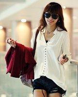 Женские блузки и Рубашки Europe And America Style, Fashion Ladies long Sleeved Casual Dress Shirt, Brand OL Shirt#5588