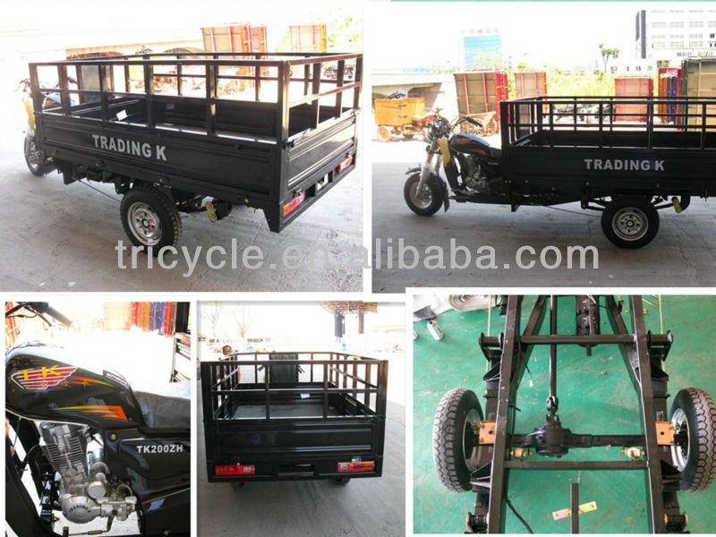 Hot quad cargo pedicab three wheel cargo motorcycles gasoline cargo tricycle
