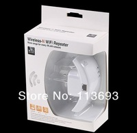 Wireless-N Wifi Repeater 802.11N/B/G Network Router Range Expander 300M 2dBi Antennas US/EU/AU Plug ,Free Shipping+Retail Box!