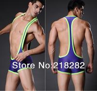 Женские трусики Sexy Male Bodysuit Mesh Sports Wrestler Breathable Jumpsuit Men's
