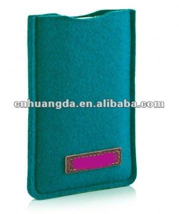 colorful felt cell phone bag