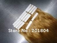 "Волосы для наращивания hot"" 100% remy human hair tape extension 40pcs/bag 20"
