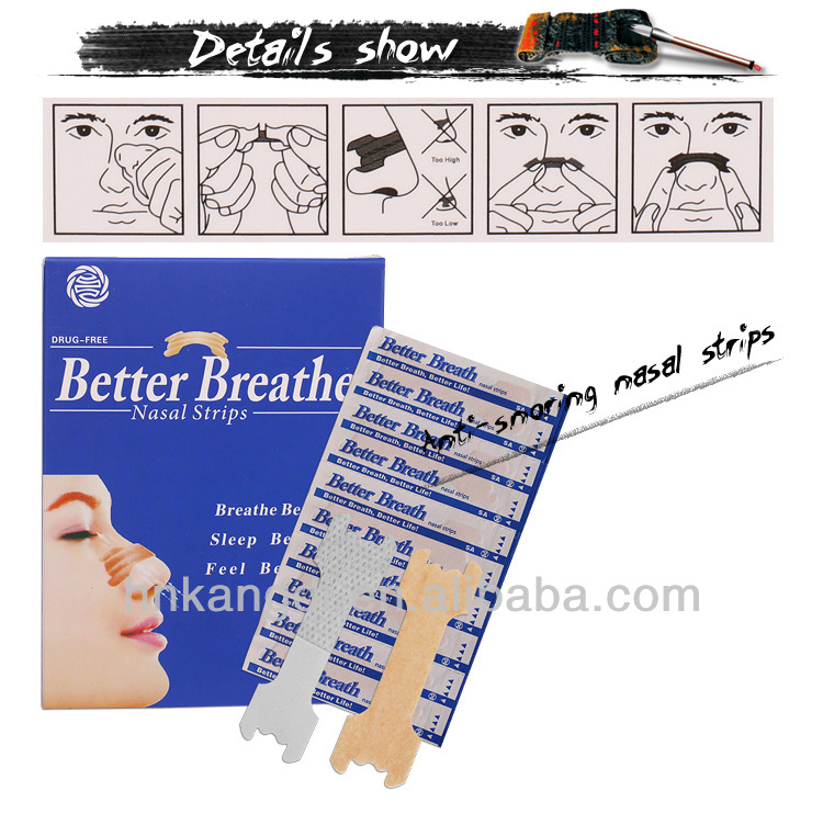 ISO certificated anti-snoring breathe nasal strips for snoring stopper