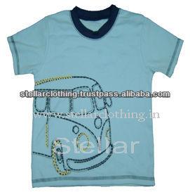 100% cotton Children\'s T-shirt - Bus - L Blue.jpg