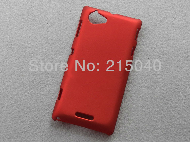 High Quality Cheapest Colorized Oil-coated Rubber Matte Hard Case Cover for Sony Xperia L S36h C210x, SON-011 (9)