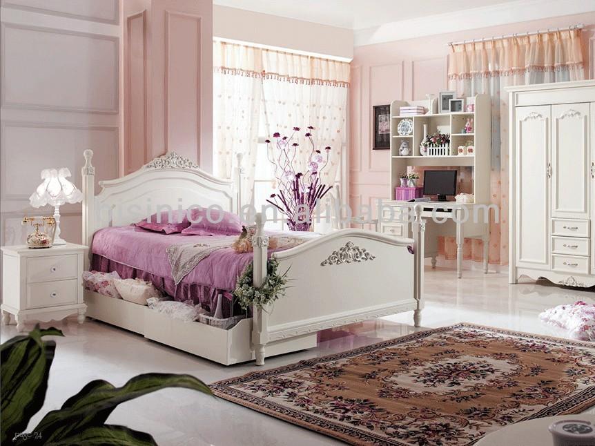 Zeitgenössische Holz Bett Gesetzt, Landhausstil Schlafzimmermöbel ... Schlafzimmer Landhausstil Rosa