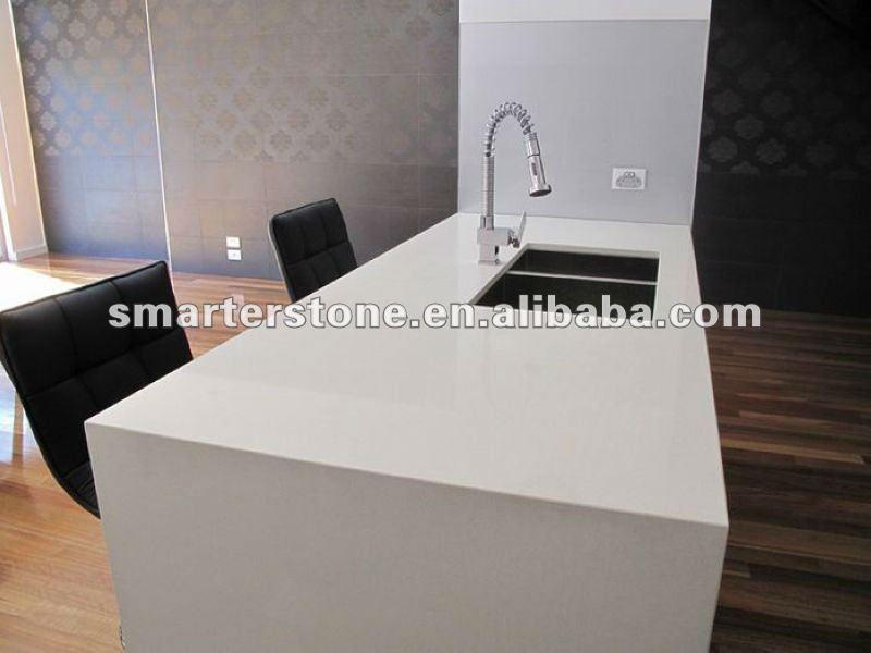 bianco di quarzo artificiale isola top bancone da bar-Controsoffitti, controsoffitti bagno, e il ...