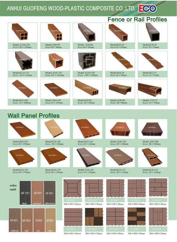 2014 Decks de madeira plástica