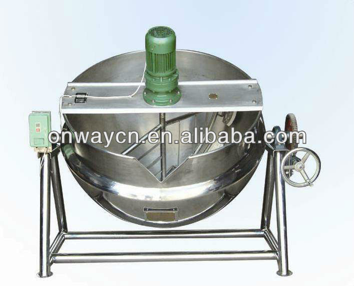 KQG stainless steel oil or steam jacket brew kettle